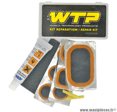 Nécessaire réparation - (rustines + tube dissolution) marque WTP - Accessoire vélo