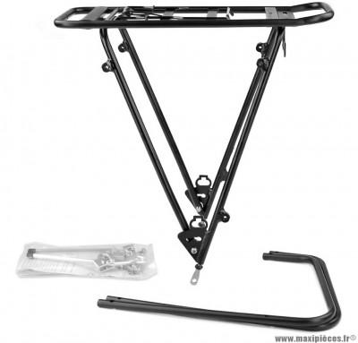Porte bagage vélo noir arrière réglable 26-28 pouces marque WTP - Accessoire vélo