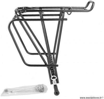 Porte bagage vélo noir arrière réglable spécial frein a disque marque WTP - Accessoire vélo