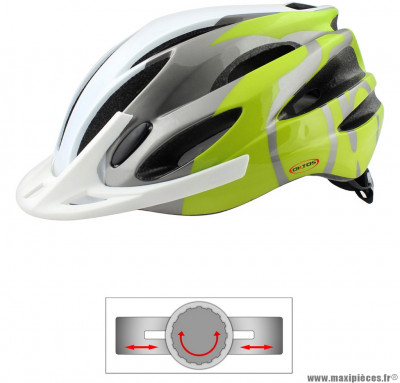 Casque vélo in mold adulte vert pomme/ blanc (taille 58/62) marque Oktos- Equipement cycle