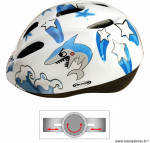 Casque vélo enfant garçon bleu et blanc shark (taille 48/54) marque Oktos- Equipement cycle