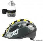 Casque vélo p3 caution junior gris/jaune (taille 50/56) marque Polisport- Equipement cycle