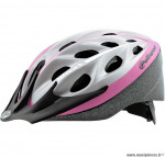 Casque vélo blast adulte argent/rose finition mate (taille 58/61) marque Polisport- Equipement cycle