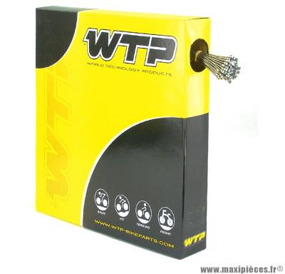 Câble dérailleur vélo acier inoxydable (boite de 100) 200cm (v723a) marque WTP - Pièce vélo