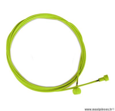 Câble acier frein galvanise vert l1,7m diamètre 1,6mm marque Alligator - Pièce vélo