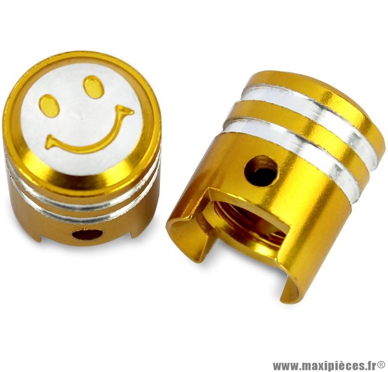 Bouchon valve schrader piston couleur or la paire) marque WTP - Pièce vélo