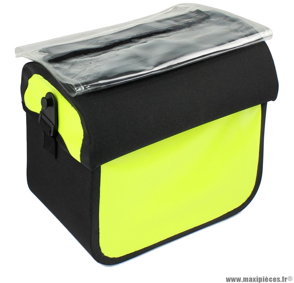 Sacoche avant avec porte carte, système clips et waterproof - Accessoire Vélo Pas Cher