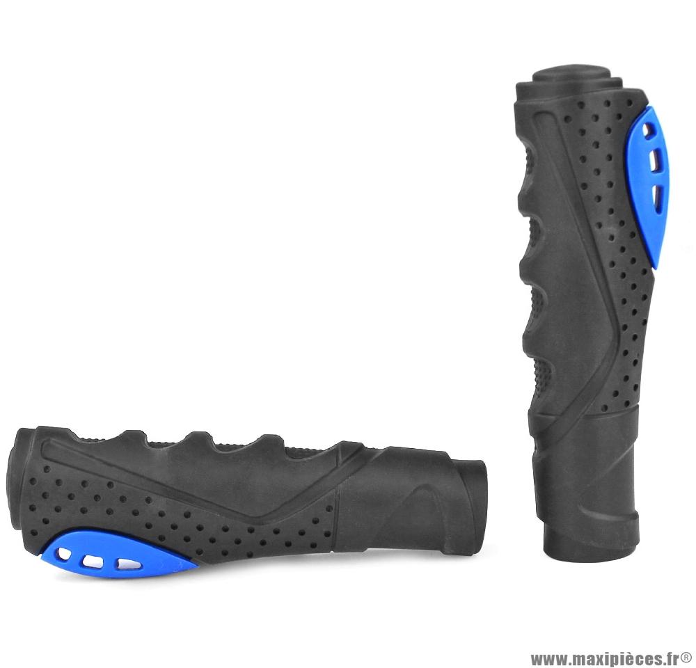 Revêtement de poignée pour vélo ergonomique noir-bleu marque WTP - Accessoire vélo