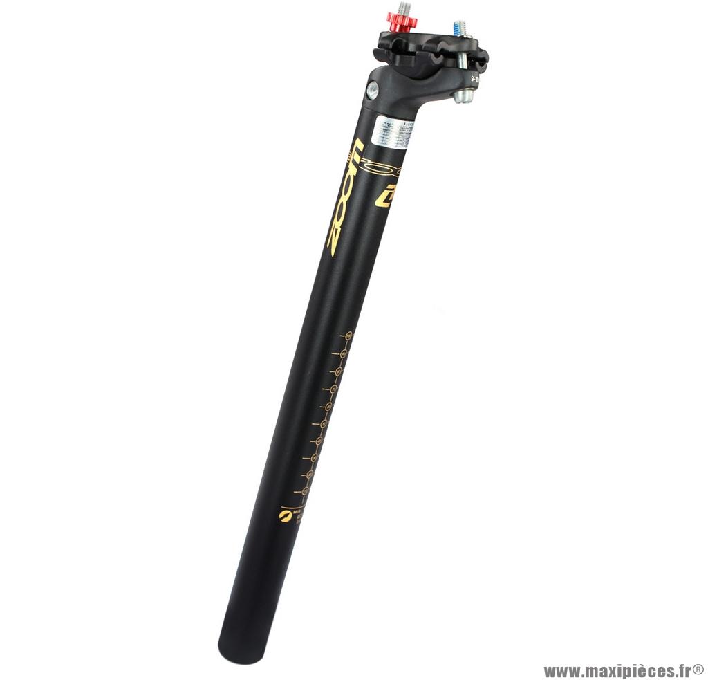 Tige de selle VTT alu diamètre 27,2mm longueur 350mm recul de 16mm noir mat marque Zoom - Pièce vélo