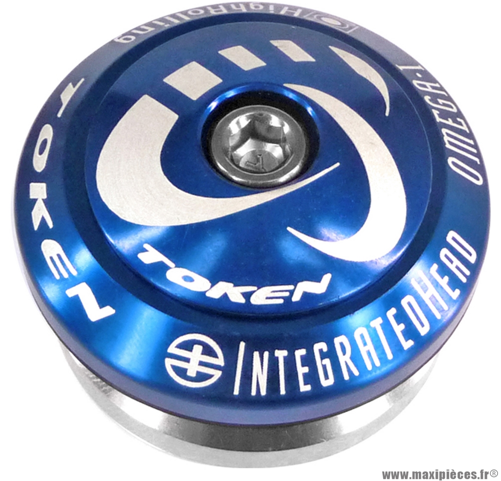 Jeu de direction intégré headset bleu 58 grammes marque Token - Pièce vélo
