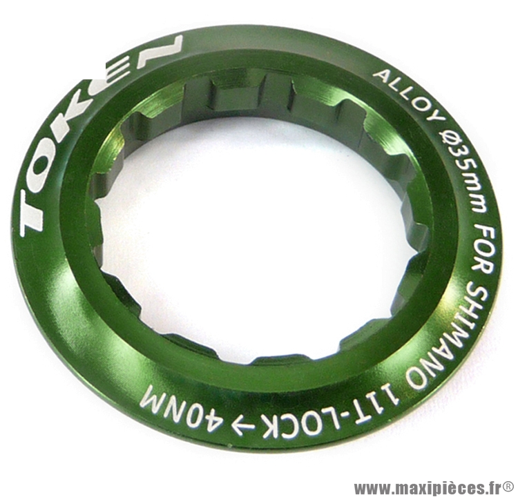 Ecrou de cassette shimano 11 dents vert marque Token - Pièce vélo
