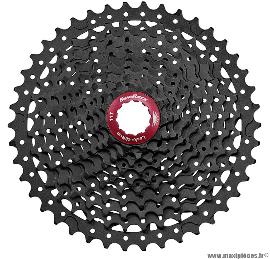 Cassette 11 vitesses 11-42 noir marque Sunrace - Pièce vélo