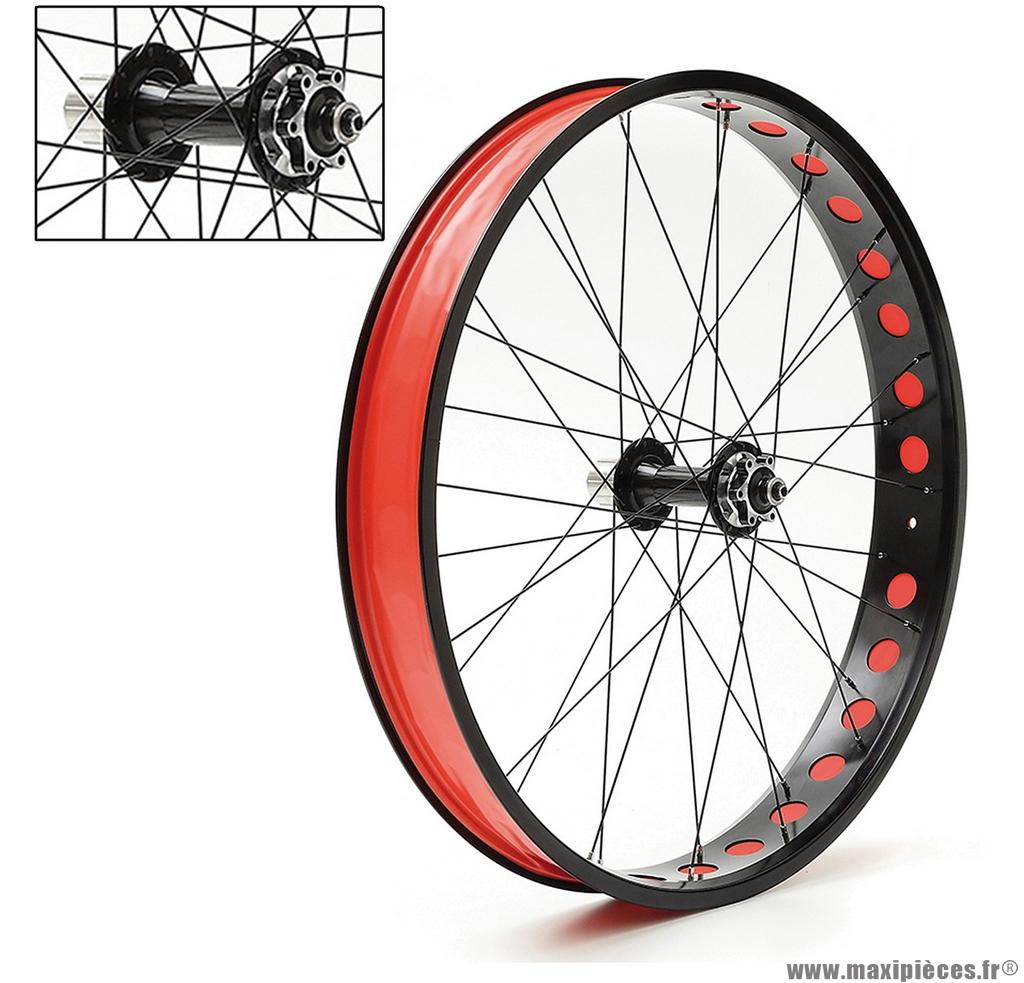 paire de roues alu fat bike 26p 9 10 vitesses a blocage entraxe ar 170mm accessoire v lo pas. Black Bedroom Furniture Sets. Home Design Ideas