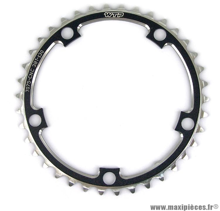 Plateau 34 dents route compact 110mm noir marque WTP - Pièce vélo