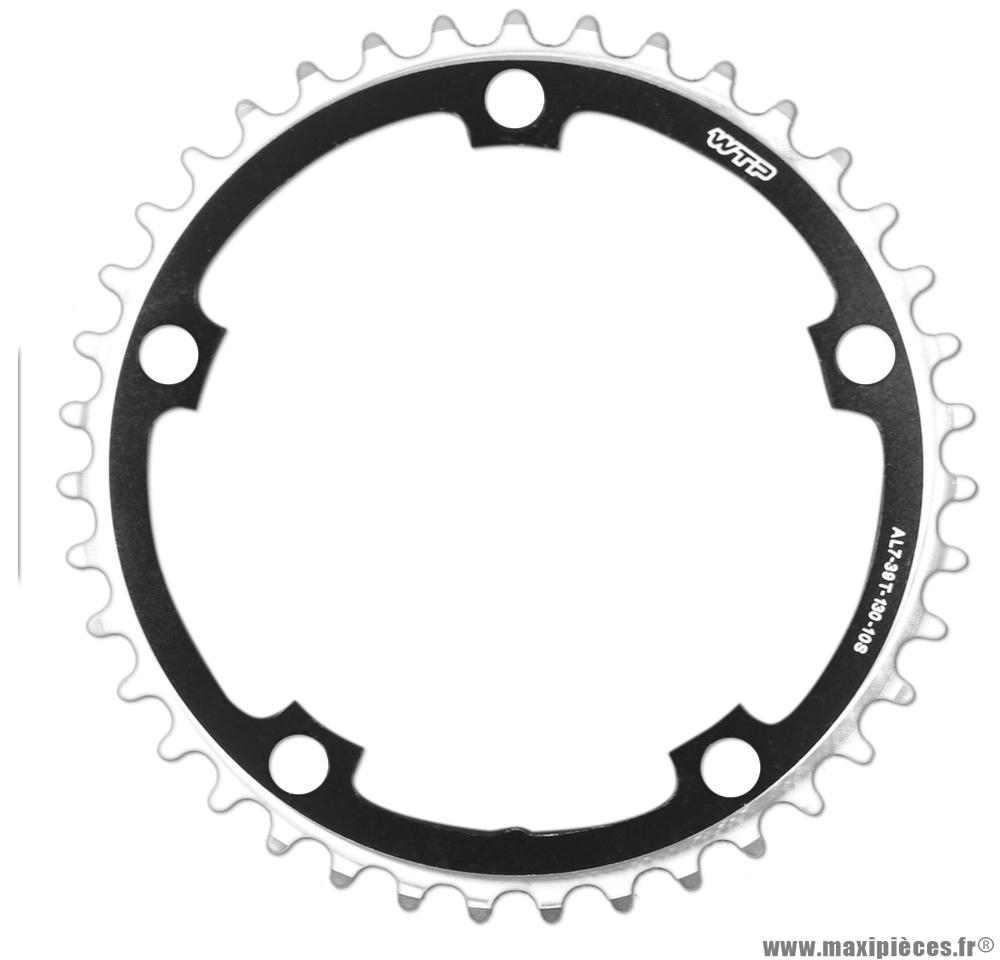 Plateau 39 dents 5 branches bcd 130mm noir petit plateau 10 vitesses marque WTP - Pièce vélo