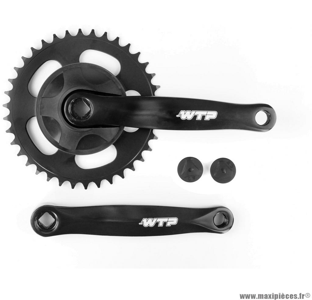 Pédalier mono plateau 38 dents 170mm noir marque WTP - Matériel pour Vélo