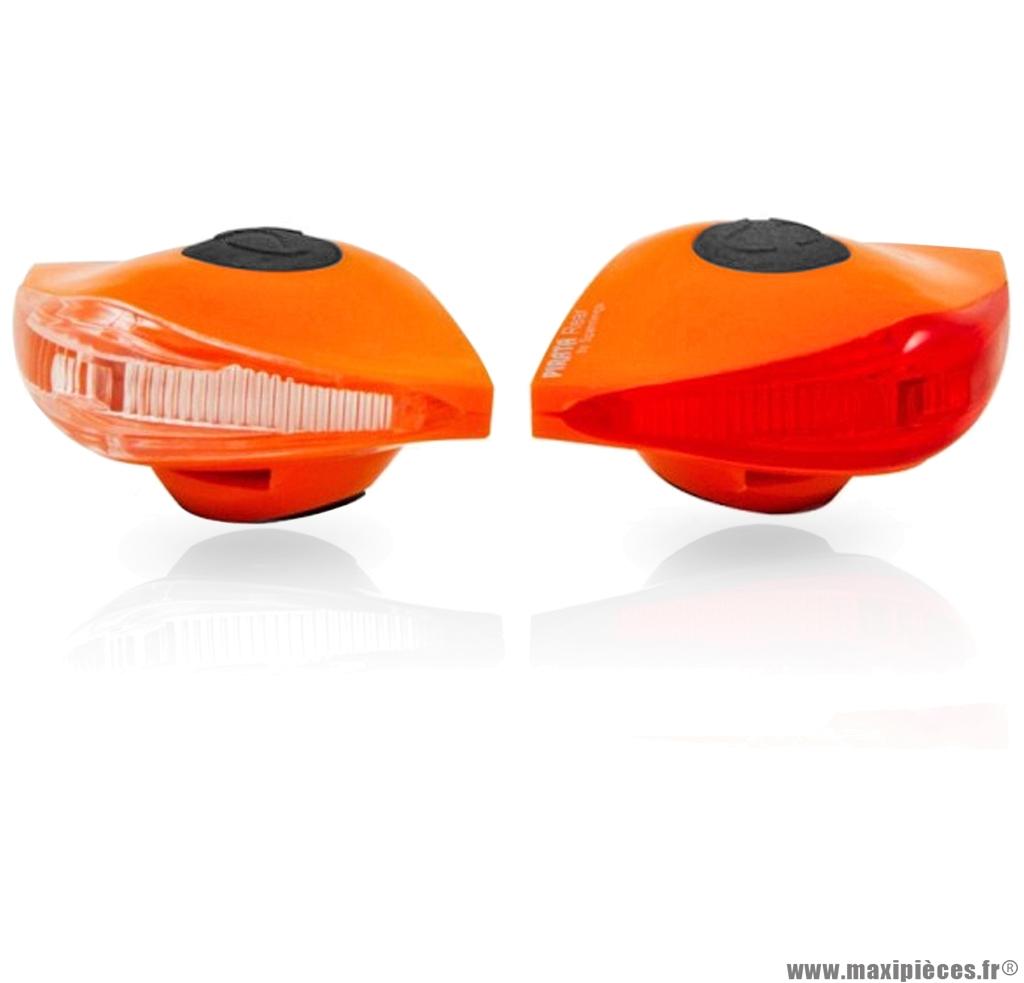 Eclairage pirata llt avant + arrière orange marque Spanninga - Matériel pour Vélo