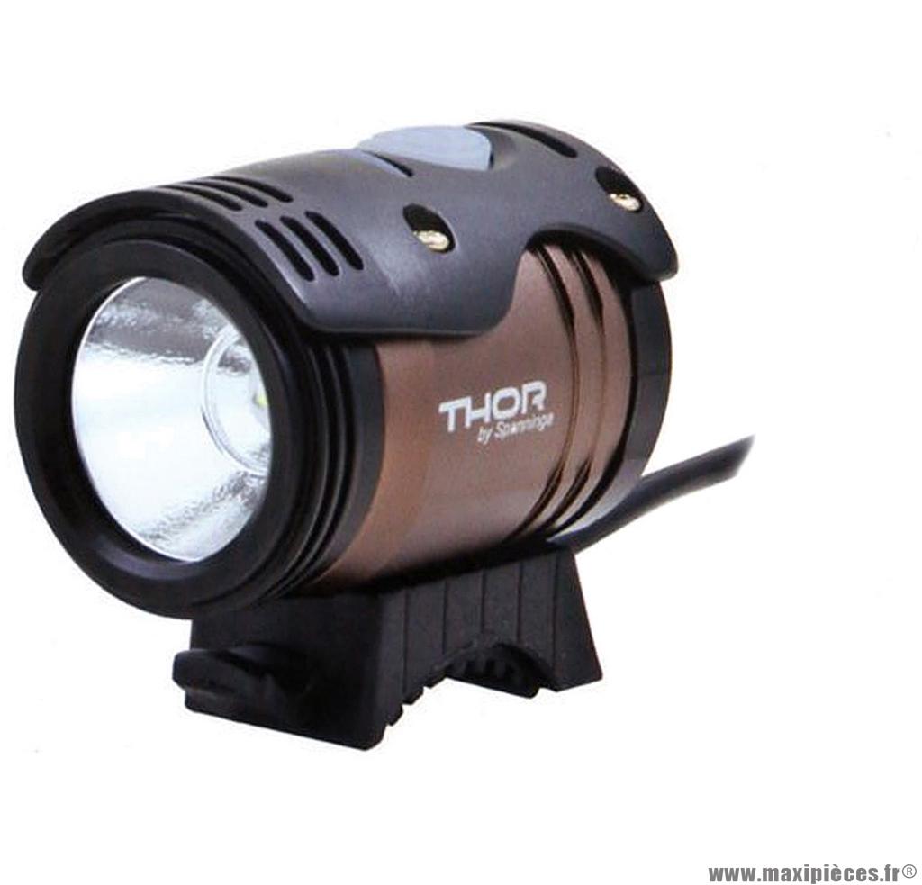 Eclairage avant thor 1100 lumens jusqu'a 10h30 d'autonomie (en mode éco) marque Spanninga - Matériel pour Vélo