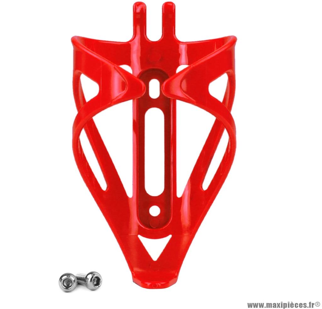 Porte bidon en résine rouge ouvert  poids : 33,6 grammes marque WTP - Accessoire vélo