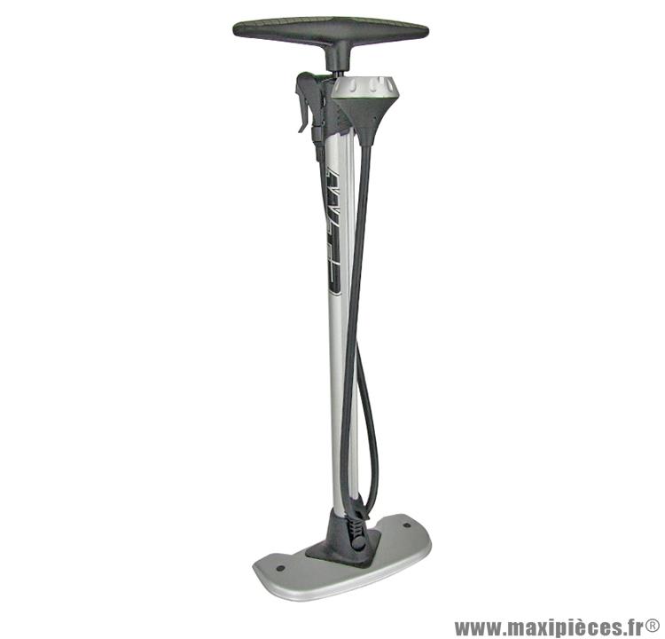 Pompe a pied corps alu avec mano, clever valve marque WTP - Accessoire vélo