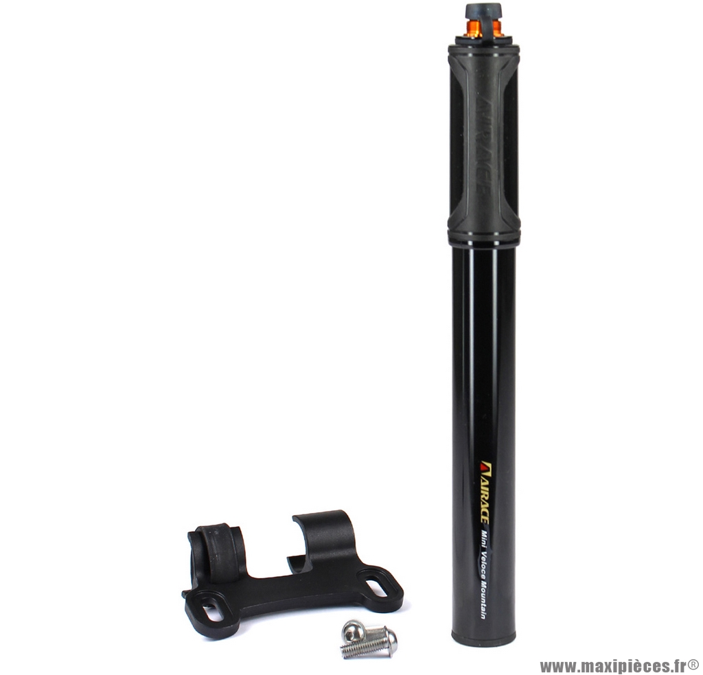 Mini pompe a main mini véloce VTT noire presta/schrader marque Airace - Accessoire vélo