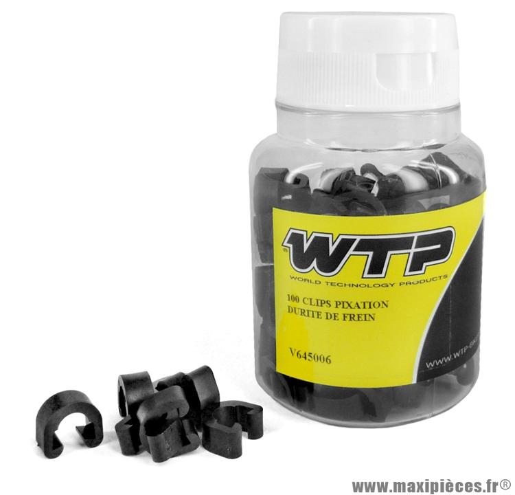 Boite de 100 clips fixation durite de frein marque WTP - Accessoire vélo