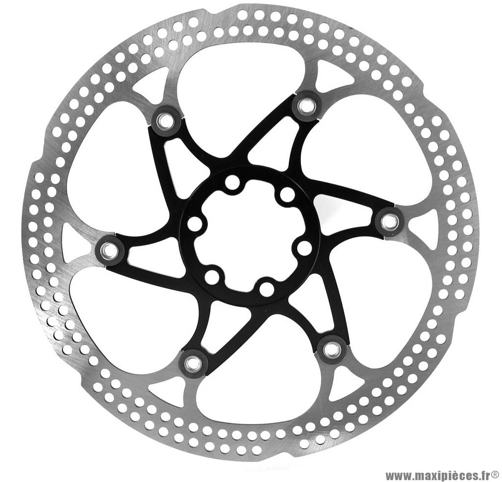 Disque frein flottant floating pro 180mm 6 trous noir marque WTP - Matériel pour Vélo