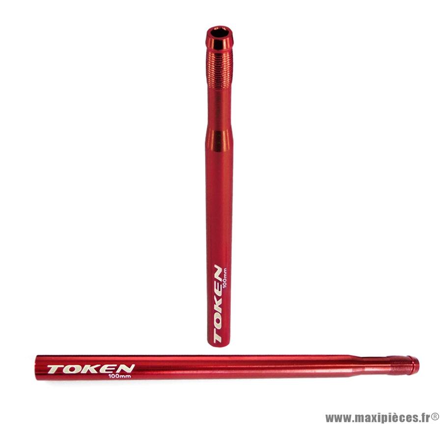 Prolongateur de valve rouge 2 pièces 100mm non démontable marque Token - Pièce vélo