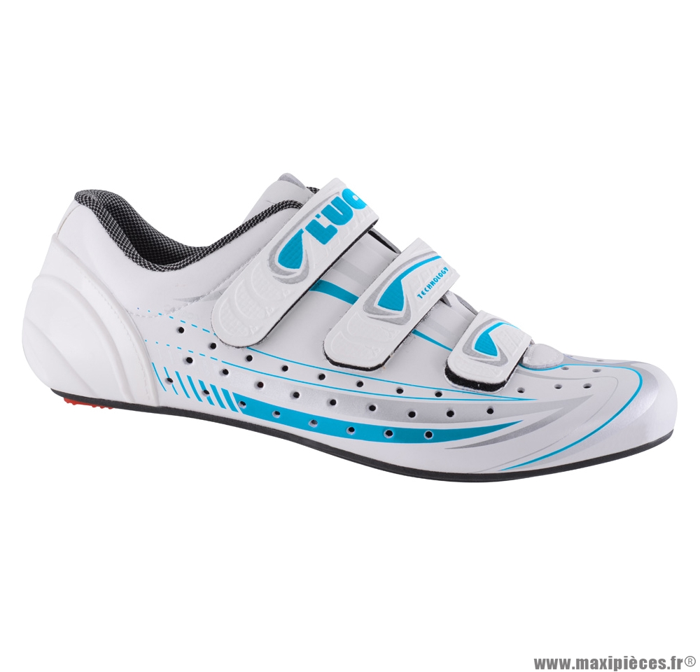 Chaussures femme route luna (taille 37) blanches-bleues marque Luck