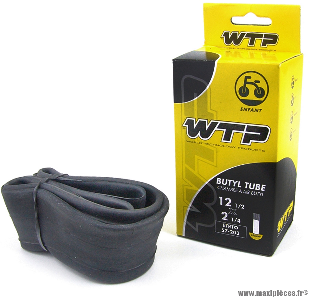 Chambre à air de 16 pouces x 1,75 schrader marque WTP - Pièce vélo