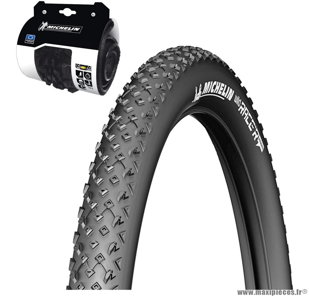 Pneu vélo de dimension 27,5x2,25 wildrace'r2 advanced gum-x reinforced tringle souple marque Michelin