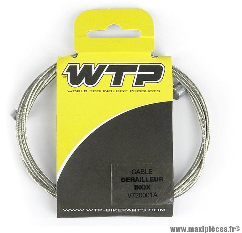 Câble dérailleur acier inoxydable (v721a) marque WTP - Pièce vélo