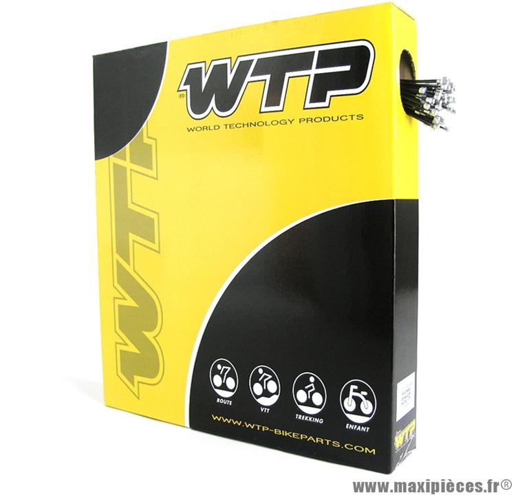 Câble dérailleur vélo teflonne (boite de 100) (v723b) marque WTP - Pièce vélo