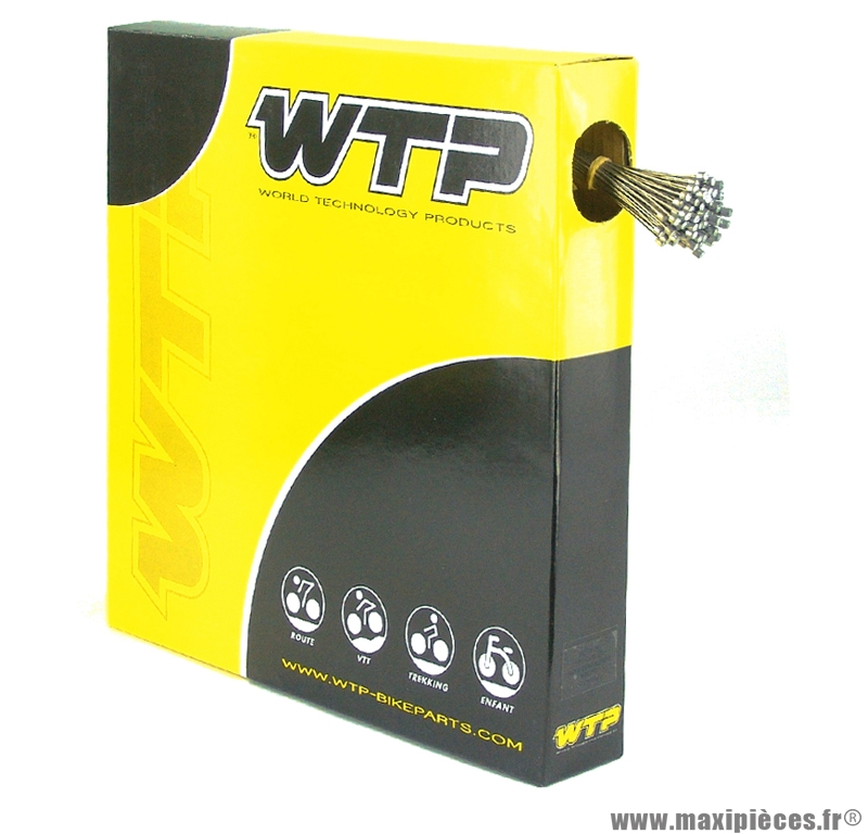 Câble de frein vélo VTT acier inoxydable (boite de 100) (v724a) marque WTP - Pièce vélo