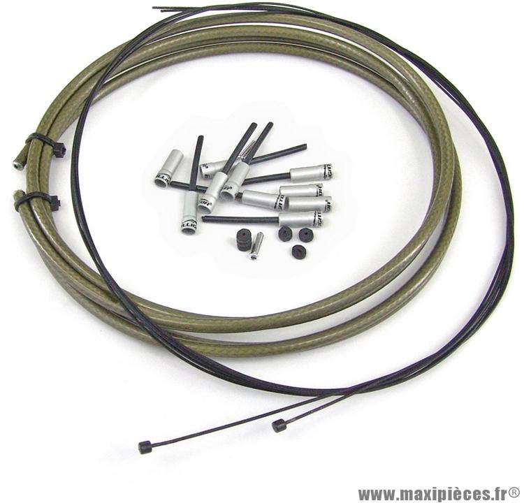 Kit câble / gaine étanche dérailleur marque WTP - Pièce vélo