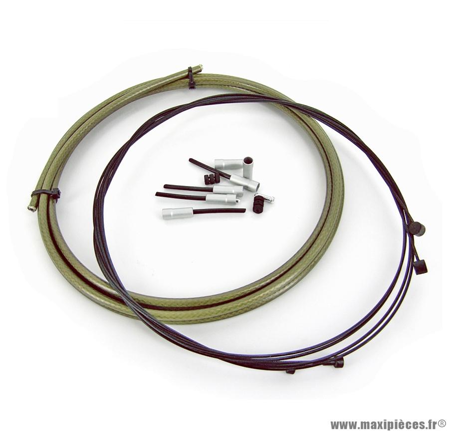 Kit câble / gaine étanche frein marque WTP - Pièce vélo