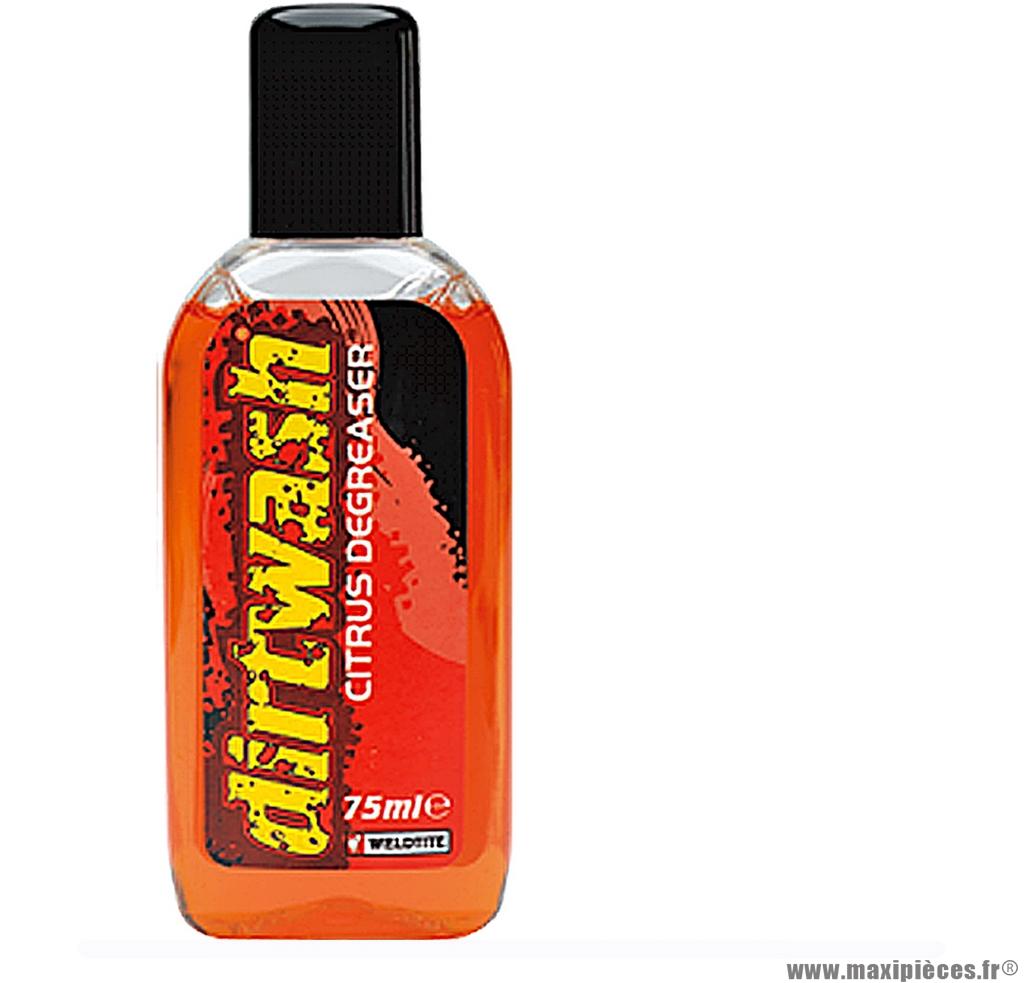 Liquide dégraissant au citron 75ml marque Weldtite - Accessoire vélo
