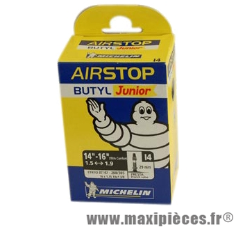 Chambre à air de tradi 350x32/37a vp i3-i4 (14-6am) marque Michelin - Pièce Vélo