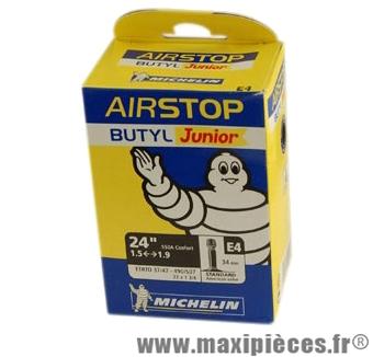 Chambre à air de VTT 24x1.50/2.10 vs e4 (24-9nm) marque Michelin - Pièce Vélo
