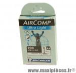 Chambre à air de route 700x18/23 vp a1 ultralight (28-4m) valve 52mm marque Michelin - Pièce Vélo