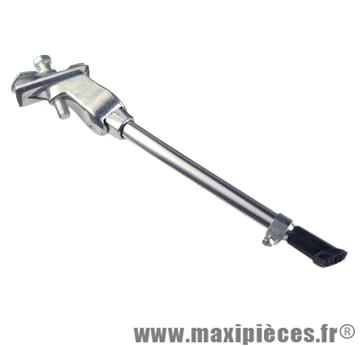 Béquille vélo latérale réglable 20-28'' alu chromée avec plaque de serrage Atoo
