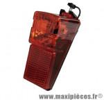 Eclairage vélo dynamo arrière rouge sur garde boue avec catadioptre intégré (vrac) marque Basta - Pièce Vélo