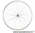 Roue vélo ville 650 x 35b arrière axe plein alu - Accessoire Vélo Pas Cher