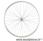 Roue vélo ville 650 x 30a avant axe plein alu (26x1 3/8) - Accessoire Vélo Pas Cher