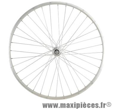 Roue vélo ville 650 x 30a arrière axe plein alu (26x1 3/8) - Accessoire Vélo Pas Cher