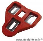 Cale pédale route type look delta mobile 5° rouge avec visserie (paire) marque Atoo - Matériel pour Vélo