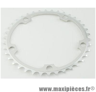 Plateau 39 dents route diamètre 130 intérieur argent alize (comp.shimano) marque Spécialités TA - Matériel pour Vélo