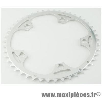 Plateau 51 dents route diamètre 130 extérieur argent alize (comp.shimano) marque Spécialités TA - Matériel pour Vélo