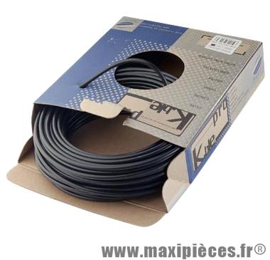 Gaine frein route/VTT noir 5mm auto-lubrifiee 25m (gaine tubée) marque KBLE - Pièce Vélo