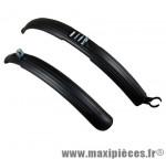 Garde boue VTT 24 pouces clips noir (paire) - Accessoire Vélo Pas Cher